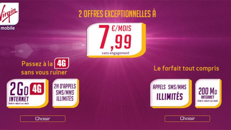 Virgin Mobile lance 2 forfaits à 7,99€ sur Showroom Privé