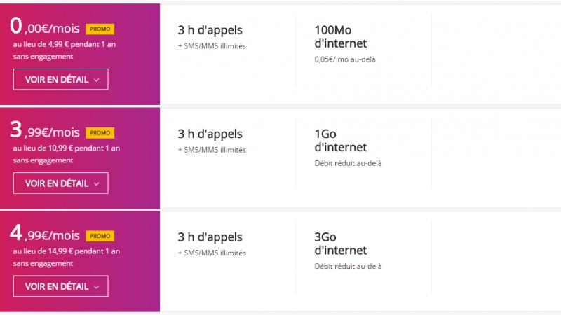MàJ : Virgin Mobile propose un forfait incluant 3h d'appels, les SMS/MMS illimités et 100 Mo pour 0 euro/mois pendant 1 an