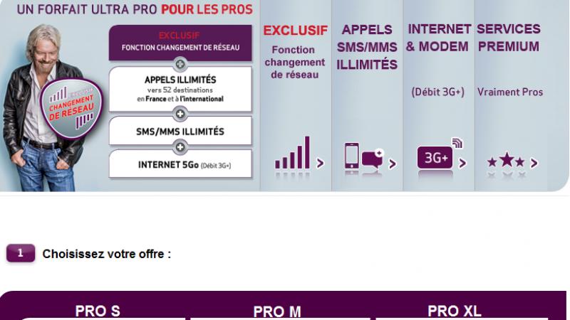 """Virgin Mobile se lance dans les offres """"Pro"""""""
