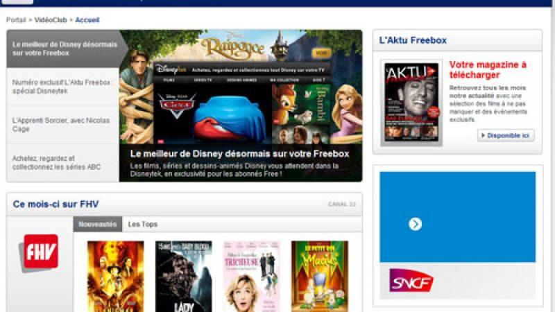 Nouvelle rubrique VOD sur le portail web de Free