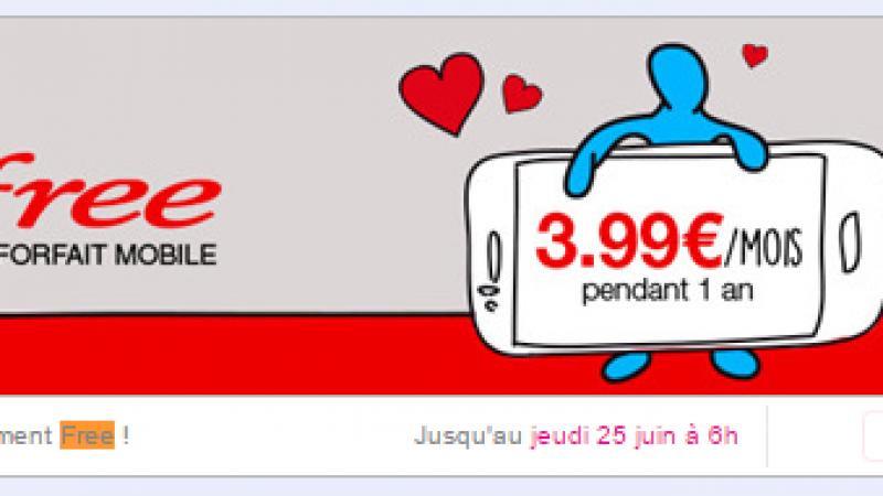 Free prolonge encore l'offre mobile à 3,99€ sur Vente Privée