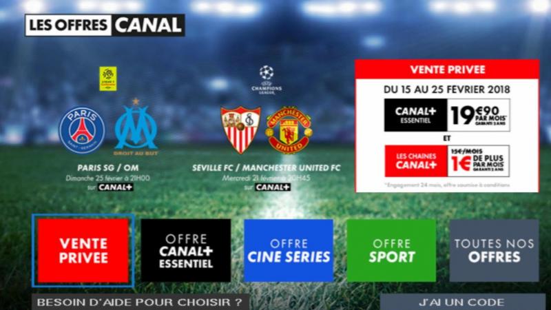 """Canal lance une """"vente privée"""" sur la Freebox : toutes les chaînes Canal+ pour 1€/mois pour tout abonnement à Canal+ essentiel"""