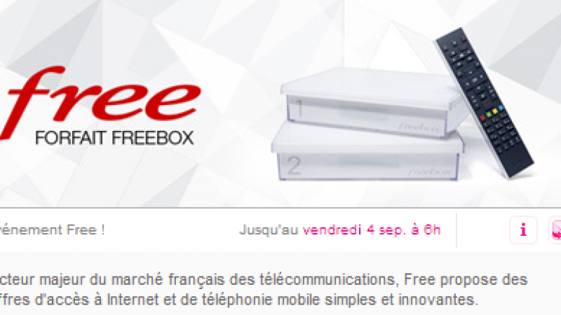 Nouvelle prolongation pour l'offre Freebox sur Vente-Privée