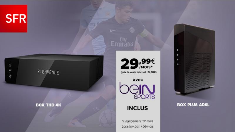 SFR lance déjà une vente privée sur sa nouvelle offre box couplée avec beIN Sports