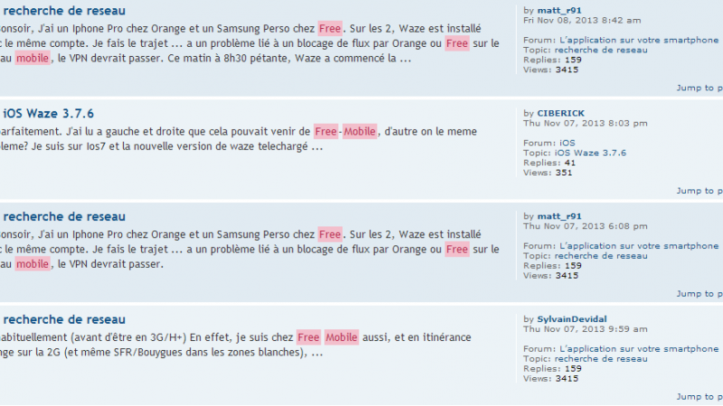 La communauté Waze France interpelle Free Mobile et Orange France sur les difficultés des abonnés Free