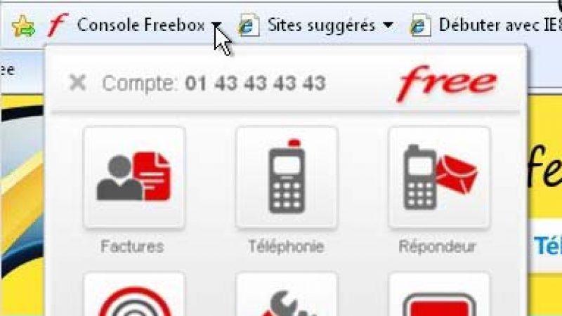 Free lance son Web Slice sur Internet Explorer