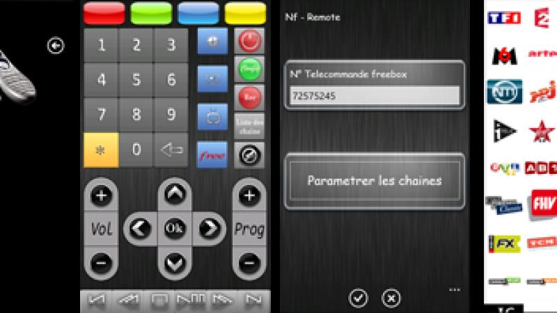 Nouvelle télécommande virtuelle Freebox  pour Windows Phone