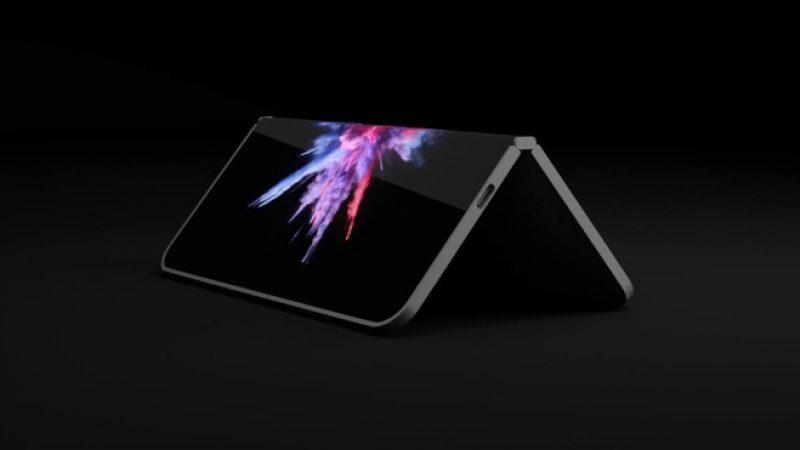 Microsoft développe un smartphone pliable composé de deux écrans