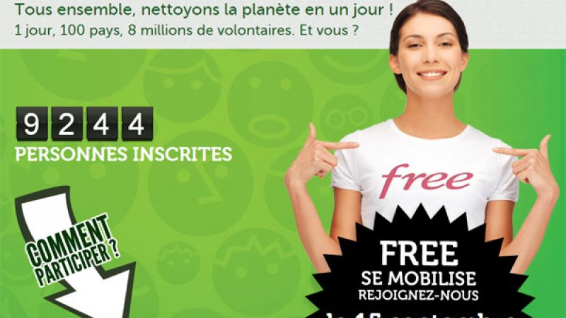 Free appelle à la mobilisation des Freenautes pour nettoyer la planète