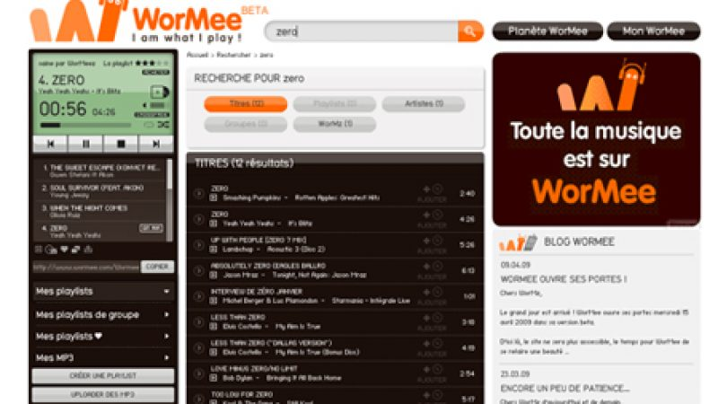WorMee, le concurrent de Deezer made in Orange