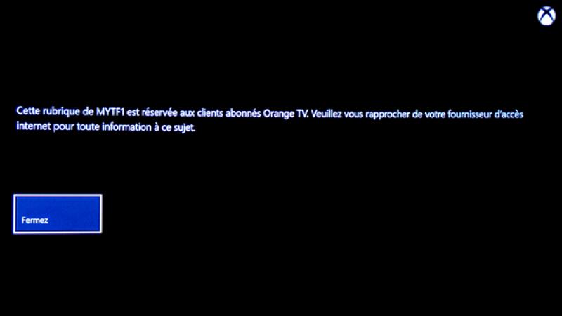 MyTF1 arrive sur Xbox One, mais n'est entièrement accessible qu'avec une box Orange