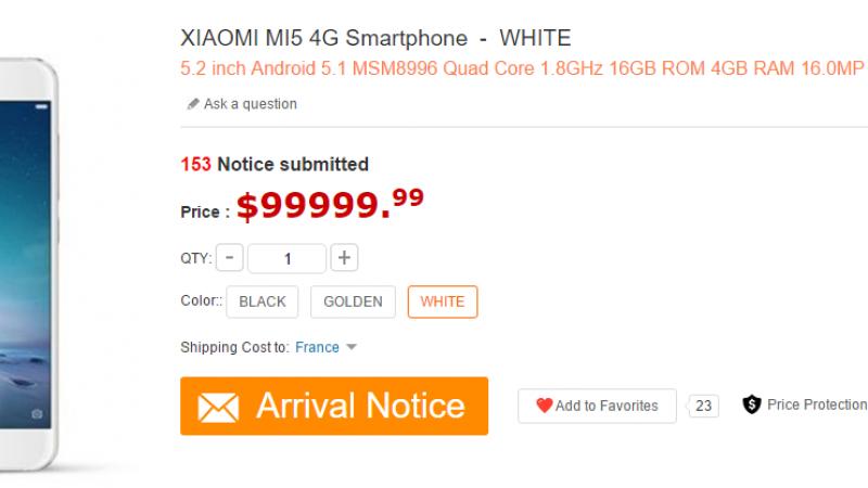 En fuite sur la toile, le Xiaomi Mi5 pointe le bout de son nez