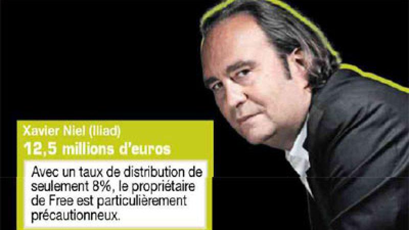 Xavier Niel n'abuse pas des dividendes, Martin Bouygues s'est, lui, bien servi