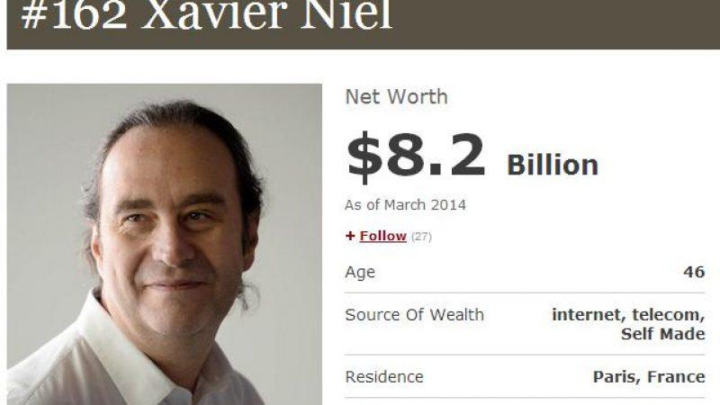Xavier Niel gagne 17 places dans le classement mondial des hommes les plus riches du monde