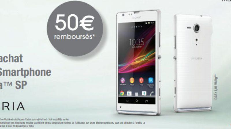 Free Mobile : le xPeria SP à moins de 250€ grâce à une ODR de 50€