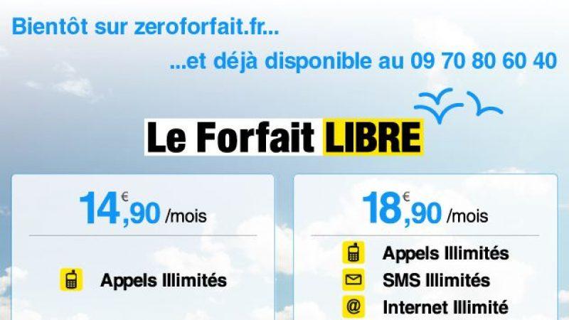 Zero Forfait fait moins cher que Free Mobile