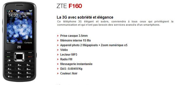 TELEPHONE POUR TÉLÉCHARGER ZTE F160 JEUX