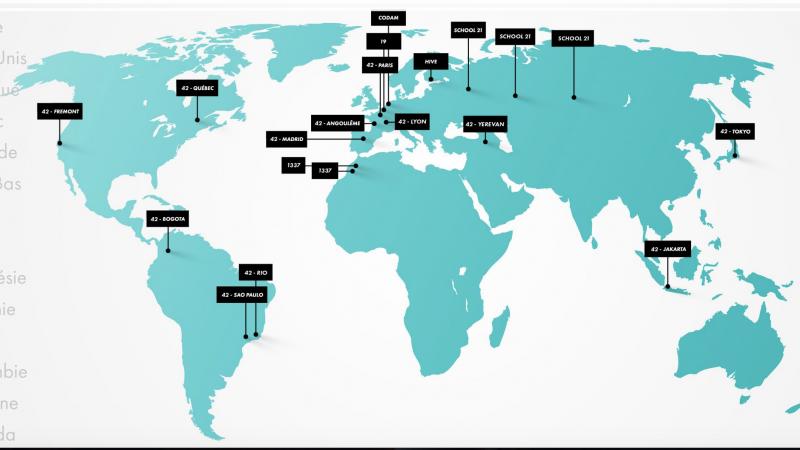 L'école 42 de Xavier Niel part à l'assaut du monde avec le lancement de 11 nouveaux campus d'ici 2020