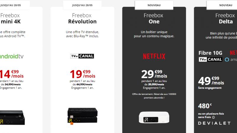 Quelle Freebox va faire les frais de l'opération de simplification des offres fixes de Free ?