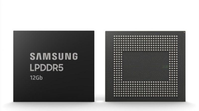 Samsung annonce une nouvelle puce de 12 Gb de RAM LPDDR5 pour smartphone