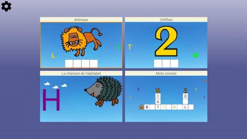 Test de l'application Alphabet sur Freebox mini 4K : quatre activités pour apprendre les lettres et les mots aux enfants