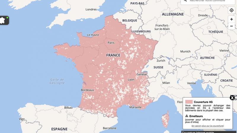 Orange, Free, SFR et Bouygues vont être contraints de fournir des cartes de couverture mobile plus fiables