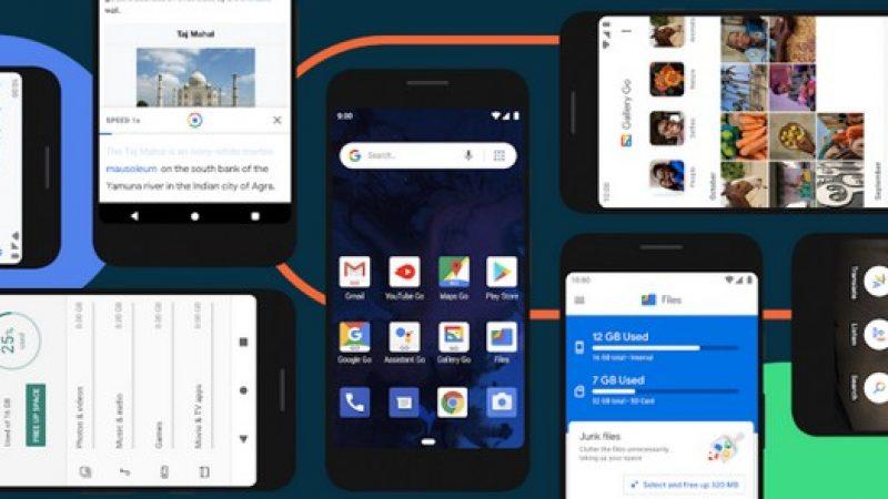 Android 10 : le nouveau système de Google décliné en édition Go pour les smartphones d'entrée de gamme
