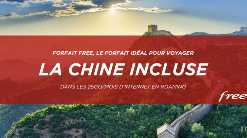 Free muscle son forfait à 19,99€ en incluant la Chine dans les 25 Go/mois en roaming, une première
