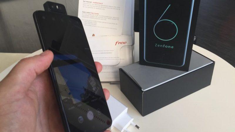 Univers Freebox a testé le smartphone Asus Zenfone 6 avec son bloc photo Flip Camera et sa grosse batterie