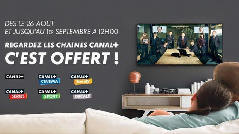Free annonce que l'intégralité des chaînes Canal + sont offertes toute cette semaine sur la Freebox