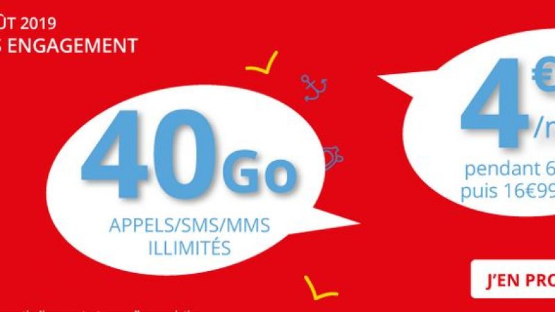 Auchan Telecom propose un forfait 40 Go en série limitée à 4,99 euros par mois sans engagement
