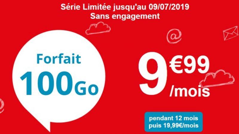 Auchan Télécom propose un forfait mobile en promo à 100 Go à 9,99 euros par mois