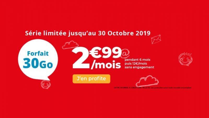 Auchan Telecom propose un forfait mobile 30 Go en promo à 2,99 euros par mois