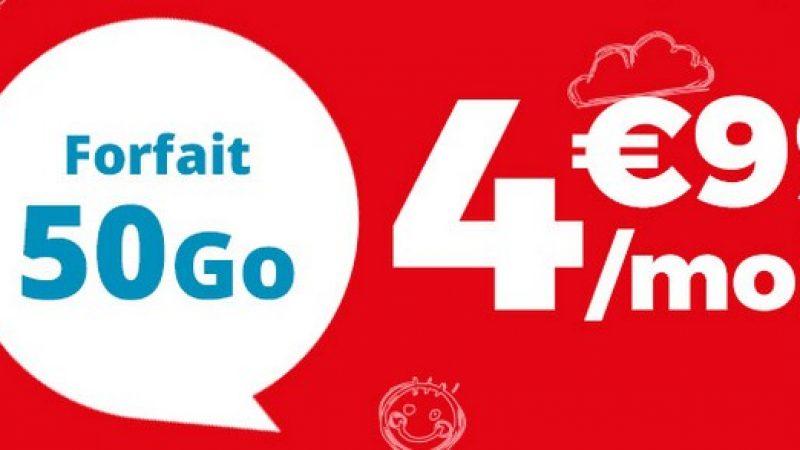 Auchan Telecom : un forfait 50 Go sans engagement en série limitée à 4,99 euros par mois