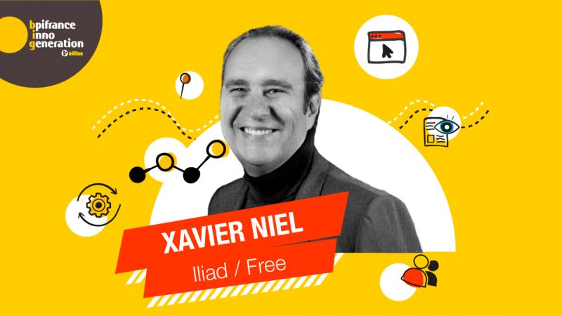 """Xavier Niel à la rencontre de 40 000 entrepreneurs lors de la 5ème édition du """"Bpifrance Inno Génération"""""""