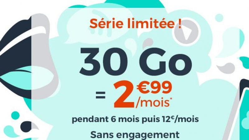"""Cdiscount Mobile: nouvelle offre """"Immanquable"""" à 30 Go pour 2.99€/mois sans engagement"""
