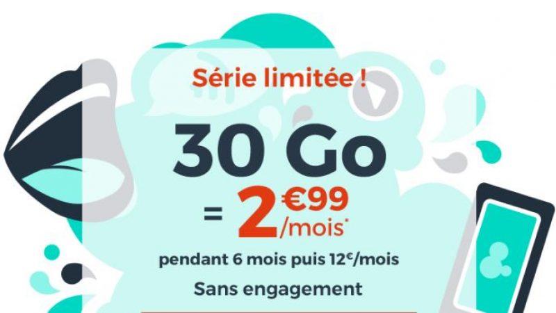 """Cdiscount mobile continue avec ses promos """"immanquables"""", avec un forfait sans engagement de 30Go"""
