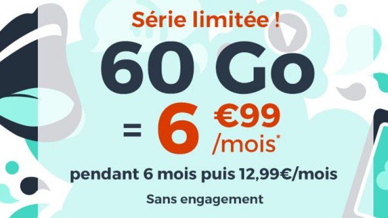 """Cdiscount Mobile : nouvelle promo """"immanquable"""" avec 60 Go pour 6.99€/mois sans engagement"""