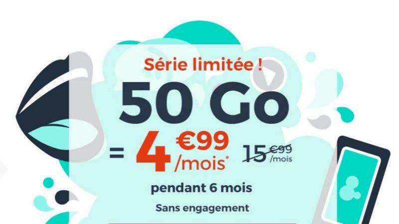 Cdiscount Mobile revoit son forfait série limitée à 4.99€ par mois en ajoutant 10 Go de data