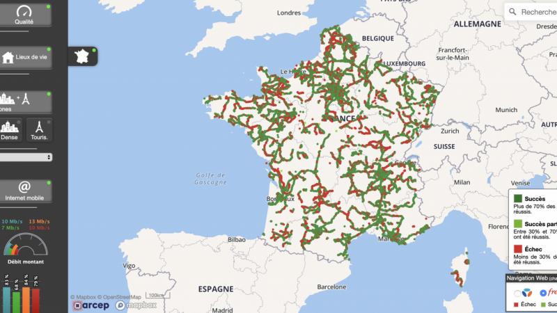 Orange, Free, SFR et Bouygues : l'Arcep met à jour son site cartographique sur les réseaux mobiles avec deux nouveautés