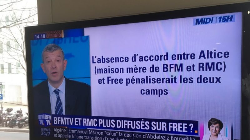 [MàJ] Free vs Altice: BFMTV et RMC prennent à nouveau les téléspectateurs à témoins avec une annonce sur leurs antennes