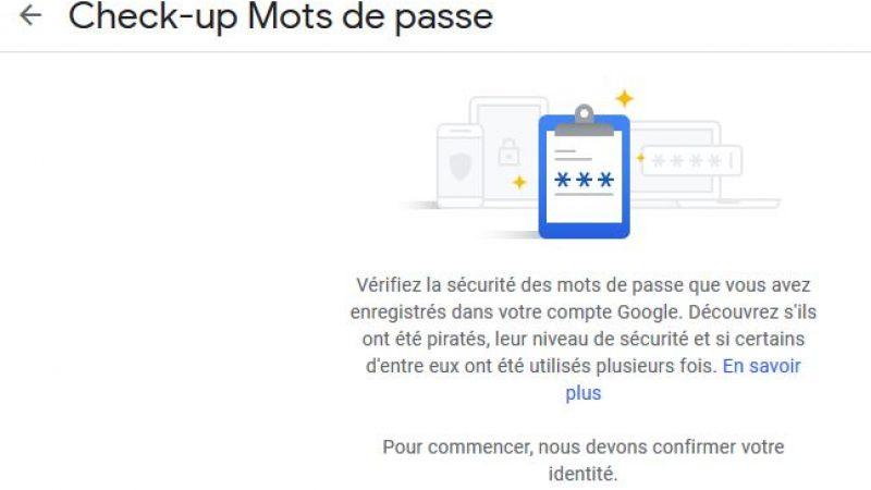 Google propose de vérifier lui même si vos comptes ont été piratés
