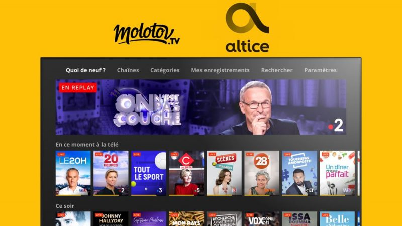 Altice France et Molotov signent un accord de distribution global