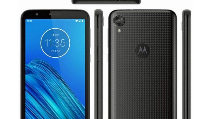 Moto E6 : le smartphone d'entrée de gamme se montre dans une fuite