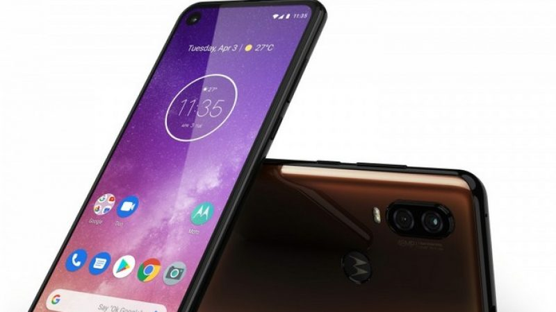 Motorola One Action : smartphone Android One avec trois capteurs photo