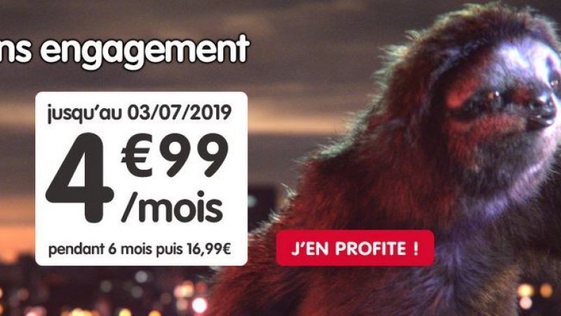 NRJ Mobile propose son forfait 50 Go pour 4.99€/mois sans engagement en édition limitée