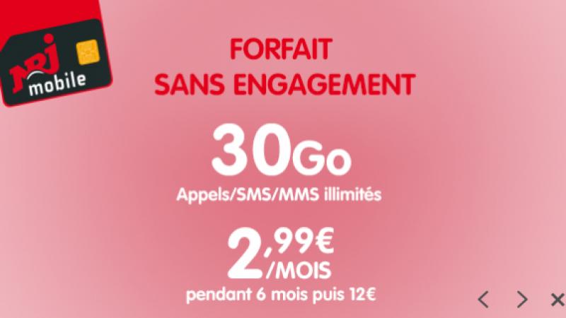 NRJ Mobile lance une offre promo avec un forfait mobile à 2,99€/mois, mais uniquement pendant 6 mois