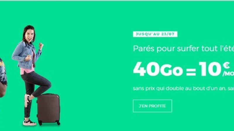 Red by SFR : un forfait mobile 40 Go à 10 euros par mois et à vie
