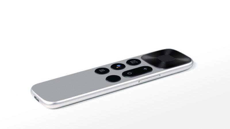 OnePlus TV : la marque révèle sa télécommande qui rappelle celle de l'Apple TV