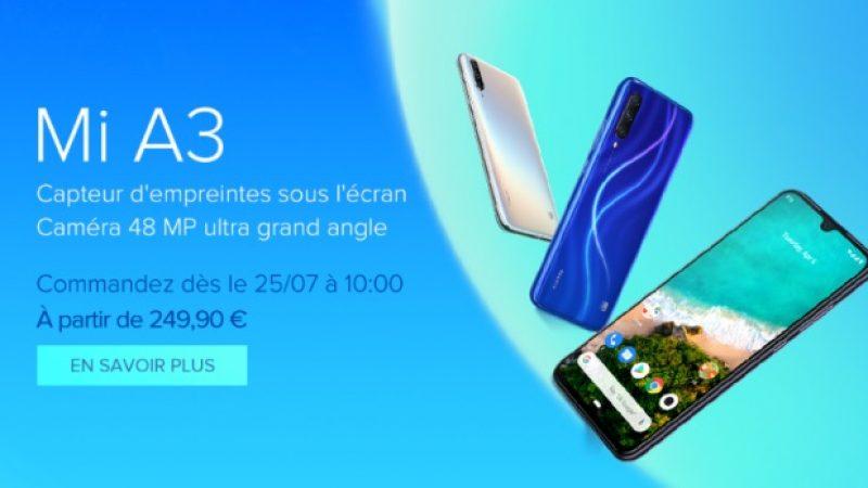 Xiaomi Mi A3 : le smartphone Android One avec écran OLED de la marque est désormais officiel